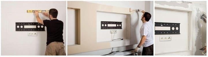 розетки для телевизора на стене